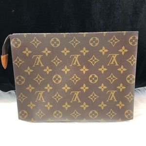 Authentic LV Toiletry Pouch Monogram